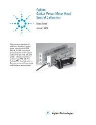 Agilent Optical Power Meter Head Special Calibration
