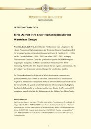 Jordi Queralt wird neuer Marketingdirektor der Warsteiner Gruppe