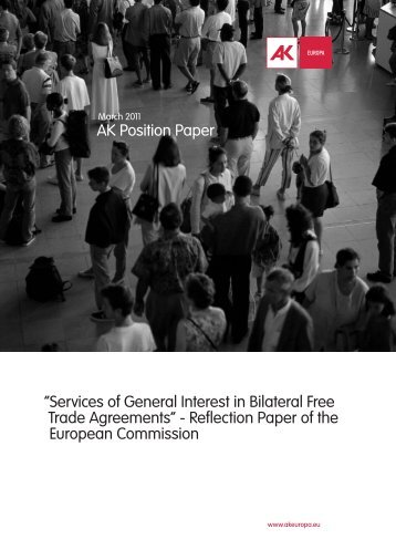 Services of General Interest in Bilateral Free Trade Agreements