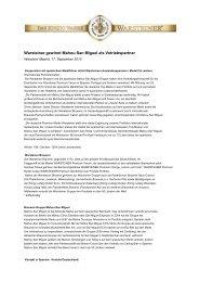 Warsteiner gewinnt Mahou-San Miguel als ... - Warsteiner Gruppe
