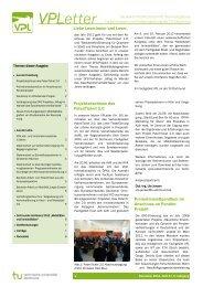 VPLetter - Verkehrswesen und Verkehrsplanung - TU Dortmund