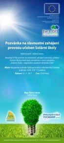 Pozvánka na slavnostní zahájení provozu Solární školy - Regionální ... - Page 2