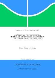 Análise da Transformada Wavelet Direcional Adaptativa na ...