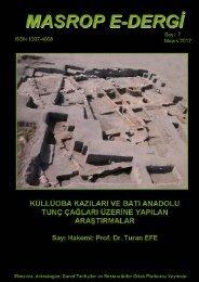 PDF için tıklayınız - Bilecik Şeyh Edebali Üniversitesi Arkeoloji Bölümü