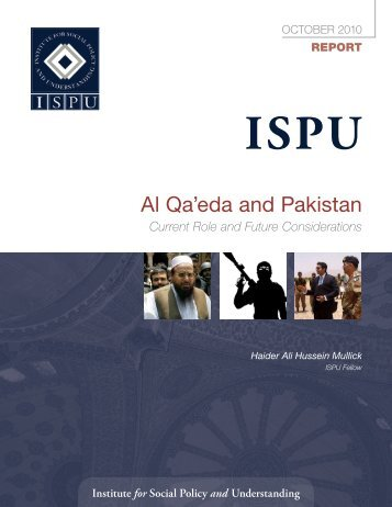 Al Qa'eda and Pakistan - Institute for Social Policy and Understanding