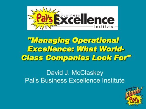 """""""Managing Operational Excellence: What World- Class Companies ..."""