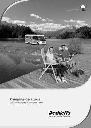 Carastéristiques techniques/ tarif camping-car - Dethleffs
