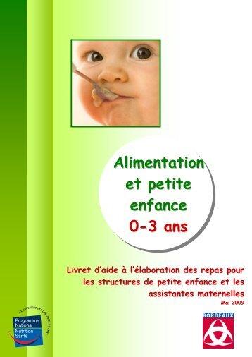 Alimentation et petite enfance 0-3 ans - Bordeaux
