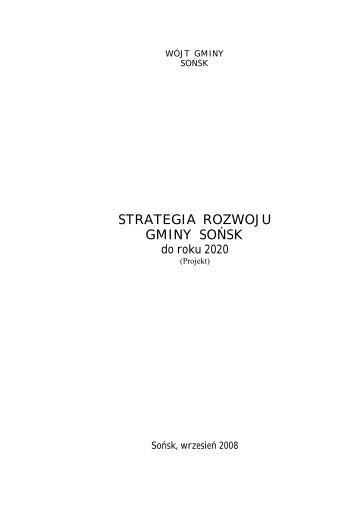 strategia rozwoju gminy sońsk - Biuletyn Informacji Publicznej - BIP