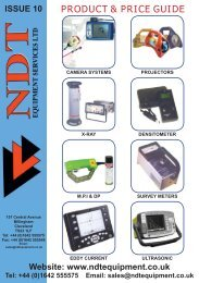 55291 NDT BROCHURE.indd - NDT Equipment Services Ltd