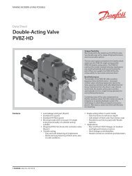 PVBZ-HD Data Sheet - Sauer-Danfoss
