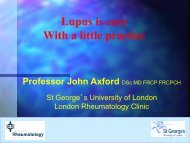 Lupus is easy with a little practice - Professor ... - Parkside Hospital