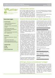 VPLetter 15 - Verkehrswesen und Verkehrsplanung - TU Dortmund