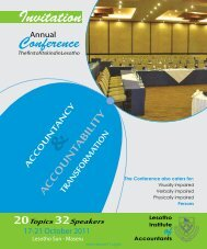 conference - The Lesotho Institute of Accountants