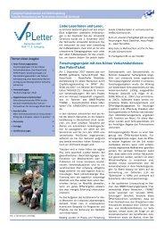 VPLetter 11 - Fachgebiet Verkehrswesen und Verkehrsplanung - TU ...