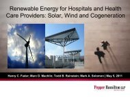 Renewable Energy for Hospitals and Health Care Providers: Solar ...