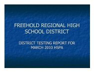 march 2010 testing report - Freehold Regional High School District