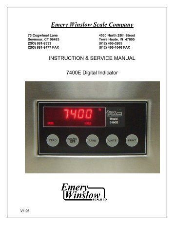 full service manual pennsylvania scale company rh yumpu com
