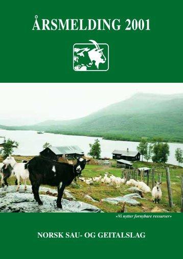 ÅRSMELDING 2001 - Norsk Sau og Geit