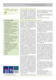 VPLetter 14 - Verkehrswesen und Verkehrsplanung - TU Dortmund