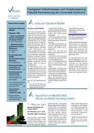 VPLetter 02 - Fachgebiet Verkehrswesen und Verkehrsplanung
