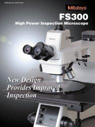 FS300 High Power Inspection Microscope - Mitutoyo America ...