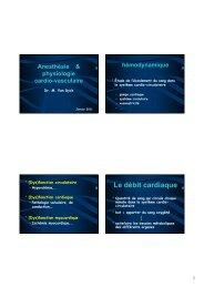 hémodynamique et anesthésie - virtanes