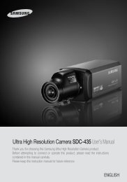 Ultra High Resolution Camera SDC-435User's Manual - Sklep Delta