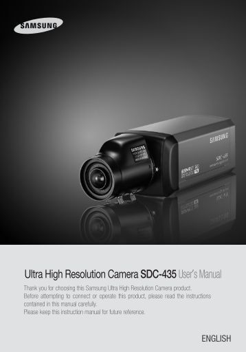 Ultra High Resolution Camera SDC-435User's Manual - Sklep Delta