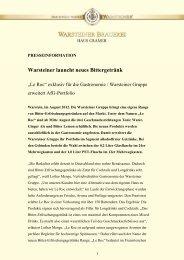 Warsteiner launcht neues Bittergetränk - Warsteiner Gruppe