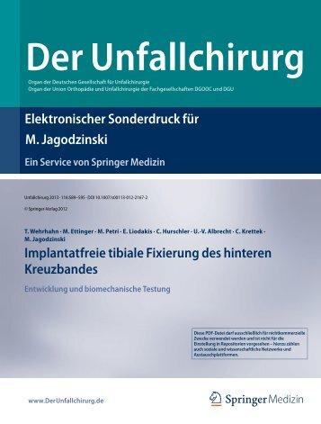Elektronischer Sonderdruck für Implantatfreie tibiale ... - Docjago.com