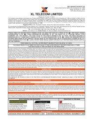 xl telecom limited - Cmlinks.com