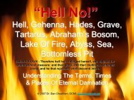 About Hell, Gehenna, Tartarus, Abyss, Bottemless Pit ... - FaithSite.com