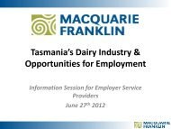 Presentation from Basil Doonan - DairyTas