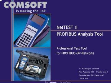 NetTEST II PROFIBUS Analysis Tool - FT Automação