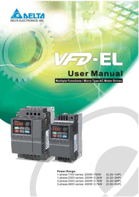 Delta Vfd El User Manual Womack Machine Supply Company