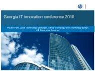 Georgia IT Innovation Conference 2010 - HP ... - e-government