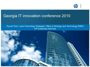 Georgia IT Innovation Conference 2010 - HP ... - e-government