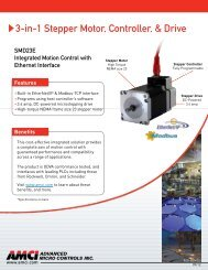AMCI SMD23E Integrated Stepper Motor, Drive and Indexer ...