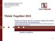 Zhodnocení dopadu sloučení vybraných vzdělávacích institucí v ...