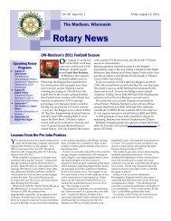 Rotary News August 12 11.pub - Rotary Club of Madison, WI