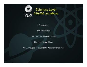 Scientist Level