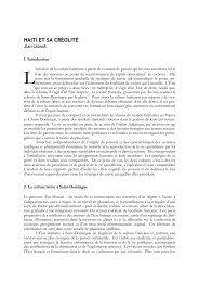 haiti et sa créolité - Center for Global Studies and the Humanities