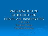 Henry Levin - Preparation of Students for Brazilian Universities