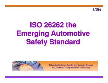 ISO 26262 the Emerging Automotive Safety Standard