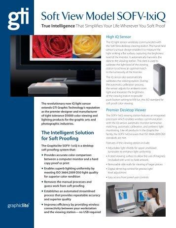 Soft View Model SOFV-1xiQ - GTI Graphic Technology, Inc