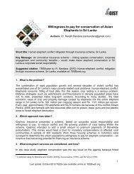 Human-elephant conflict mitigation through insurance ... - TEEB