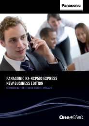 PANASONIC KX-NCP500 EXPrESS NEw BuSINESS EDITION