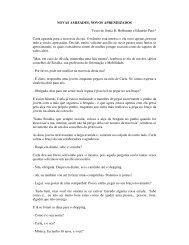 NOVAS AMIZADES, NOVOS APRENDIZADOS Texto de ... - Faders