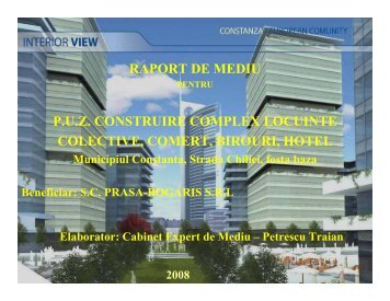 P.U.Z. Construire Complex Locuinte Colective, Comert, Birouri, Hotel